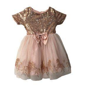 Zunie Baby Shiny Bow Tie Dress